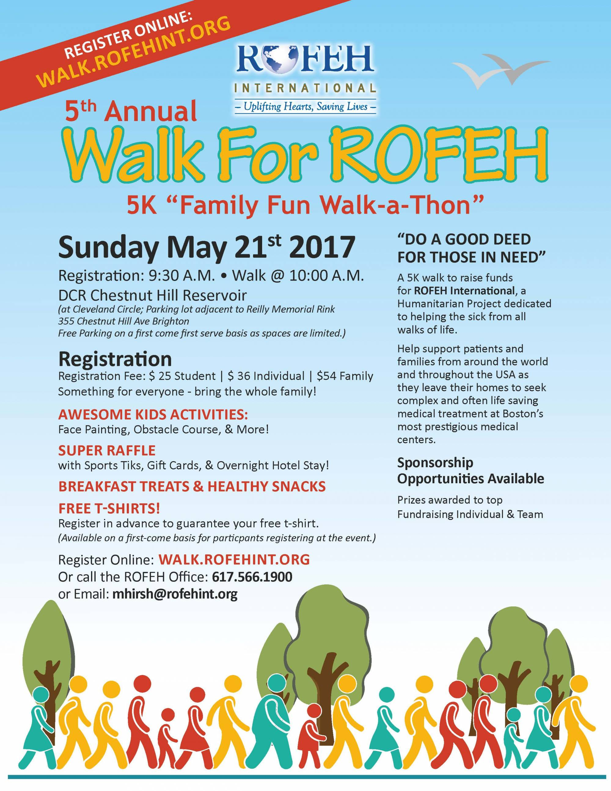 "Walk For ROFEH - 5K ""Family Fun Walk-a-Thon"